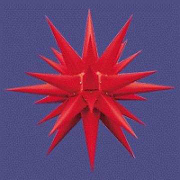 Herrnhuter Stern fürs Fenster rot 13 cm